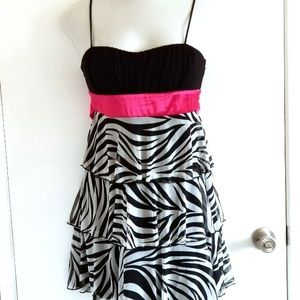 Sweet Storm Ruffles Strapped Dress size L